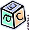 Vector Clip Art picture  of a building block