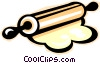 rolling pin Vector Clipart graphic