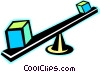 see saw Vector Clip Art graphic