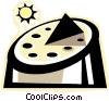 Vector Clip Art picture  of a sun dial
