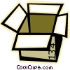 Vector Clip Art image  of a box