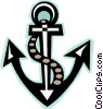 Vector Clipart picture  of an anchor