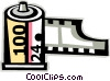 Vector Clip Art picture  of a film