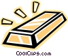 Vector Clipart picture  of a gold bar