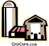 Vector Clip Art image  of a farm