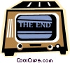 Vector Clipart graphic  of a television