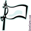 white flag Vector Clipart illustration