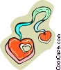Vector Clipart picture  of a heart necklace