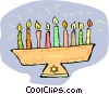 Vector Clip Art picture  of a candle