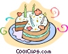 Vector Clipart graphic  of a cake
