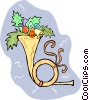 Vector Clipart graphic  of a horn