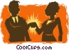 Vector Clip Art picture  of a handshake