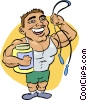 weightlifter Vector Clipart graphic