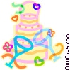 Vector Clip Art picture  of a Wedding cake