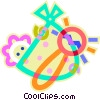 Baby with rattle Vector Clipart illustration