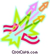 fire works Vector Clipart image