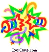 Vector Clipart picture  of a fire works
