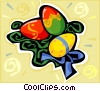Vector Clipart image  of a Easter eggs