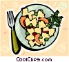 Pasta dish Vector Clipart illustration