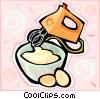 mixer, eggs Vector Clip Art picture