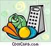 Vector Clip Art image  of a food grater