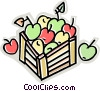 Vector Clip Art graphic  of a crate full of apples