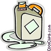 Vector Clip Art graphic  of a gasoline container