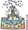 Vector Clip Art image  of a water fountain