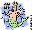 Neptune with trident Vector Clip Art image