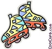 Vector Clip Art picture  of a roller blades