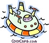 Vector Clipart illustration  of a hover craft
