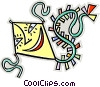Vector Clipart illustration  of a kite