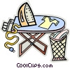 ironing clothes Vector Clip Art picture