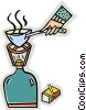 Vector Clip Art graphic  of a camping burner
