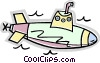 Vector Clip Art image  of a submarine