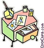 Vector Clipart graphic  of a desk