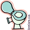 Vector Clipart picture  of a toilet