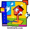 Vector Clipart image  of a bird house
