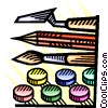 Art supplies Vector Clipart illustration