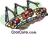 Automobile assembly line Vector Clipart illustration