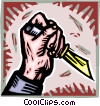 Vector Clip Art graphic  of a knife