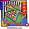 Pool table, pool balls Vector Clipart illustration