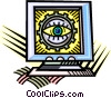Vector Clipart illustration  of a computer