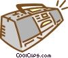Vector Clip Art picture  of a ghetto blaster