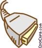 Vector Clip Art image  of a computer plug