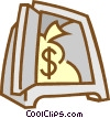 Vector Clip Art graphic  of a vault