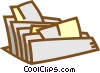 file folder Vector Clipart graphic