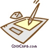 Vector Clip Art picture  of a computer palette