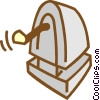 Vector Clipart image  of a pencil sharpener