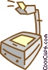 Vector Clip Art image  of a overhead projector